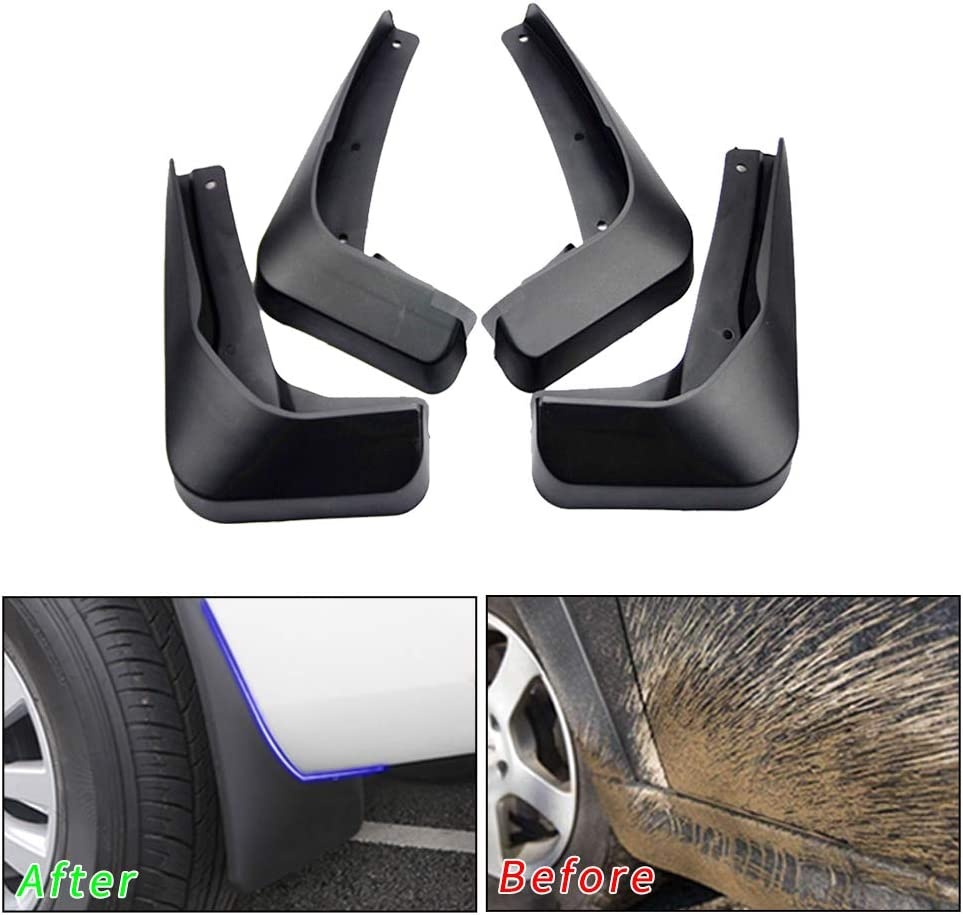 muchkey no dril car mud Flaps for Audi A4 B8 2008 2009 2010 2011 2012 2013 Sedan Fender Flare Splash Guard 4pcs//Set