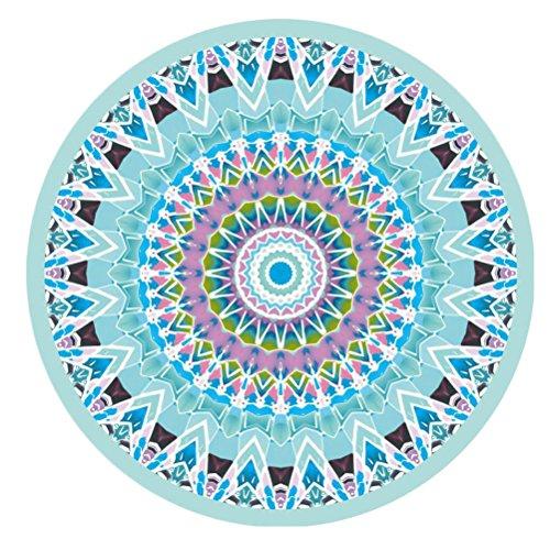 Zhhlaixing Moda Multicolor Thicken Beach Towel Picnic Round Napkin Bath Towel Yoga Pad Beach Shawl Multicolor