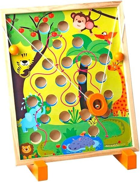 Gcroet 1PC Juguete Placa De Madera Tarjeta Maze Bolas Juego De Mesa Laberinto Del Rompecabezas Del Juguete Educativo Para Los NiñOs NiñOs: Amazon.es: Bebé
