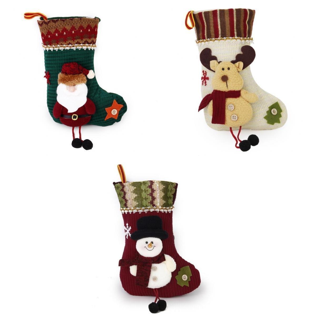 x Navidad Calcetin Almacenamiento De Titular Dulces Regalo De Navidad Casa De Vacaciones Decoracion Estilo