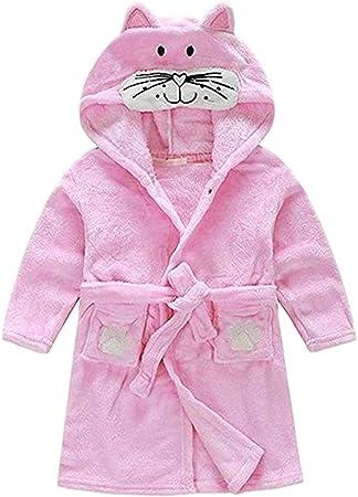 Kylewo Ropa de Dormir para niños Albornoz con Capucha, Bebé Niño Niños Niñas Camisón Pijama de Franela Albornoces 1-6 años: Amazon.es: Hogar
