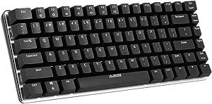 Docooler AJAZZ AK33 Mechanical Gaming Keyboard E-Sport Keyboard 82 Teclas USB Wired Blue Switches Anti-Ghosting para PC Portátil Ordenador Portátil Escritorio (Negro)