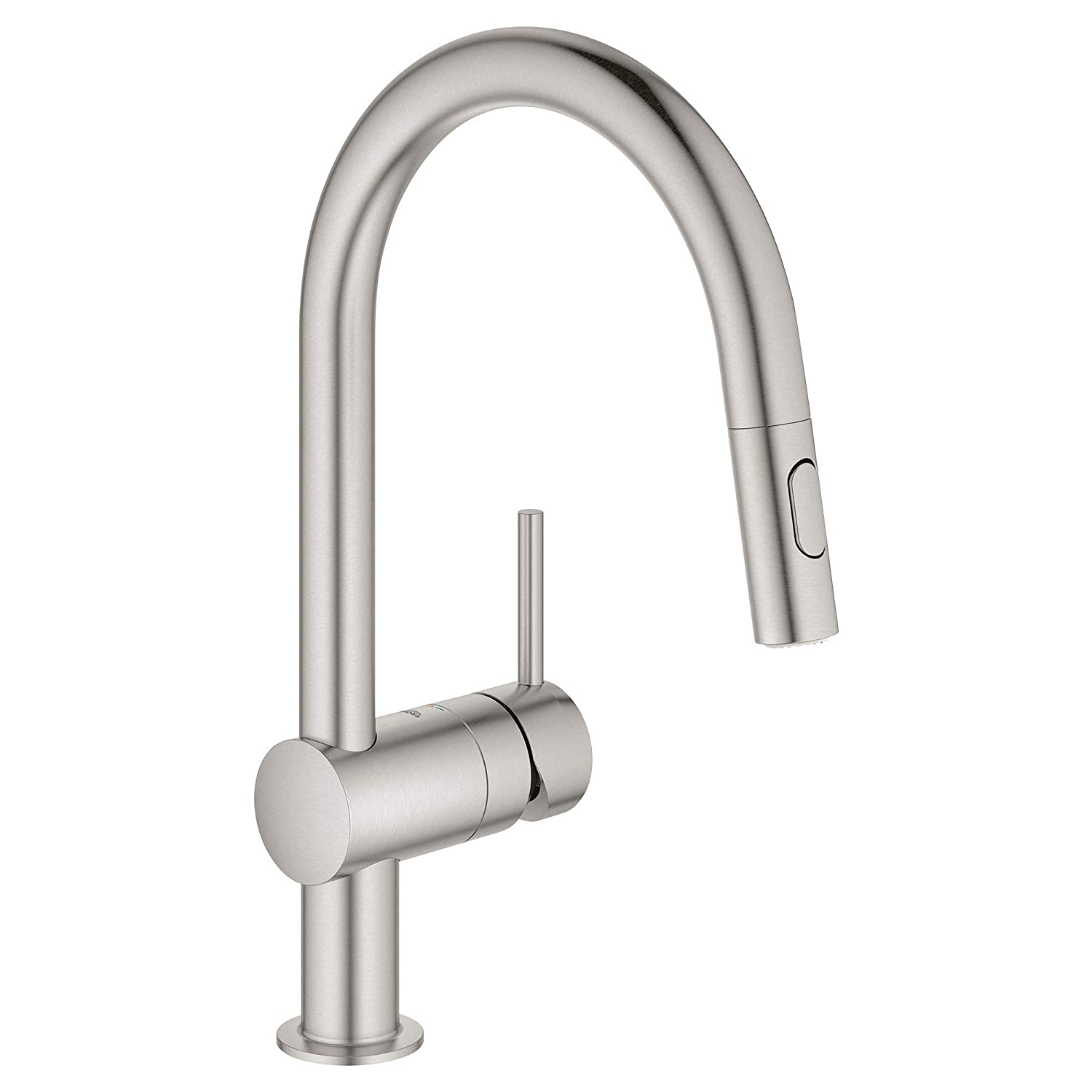 GROHE 31378DC3 Minta Single-Handle Kitchen Faucet, SuperSteel InfinityFinish
