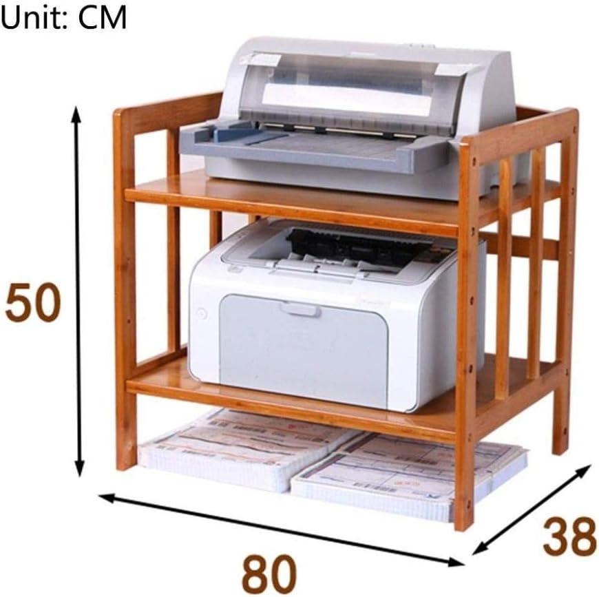 Kleines Holzregal dreistufiges Regal zum Speichern von Mikrowellen Druckern-70 cm /× 38 cm /× 50 cm Back/öfen