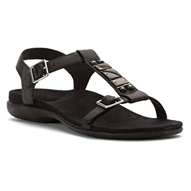 Vionic with Orthaheel Technology Womens Lennox Backstrap Sandal Black Size 7