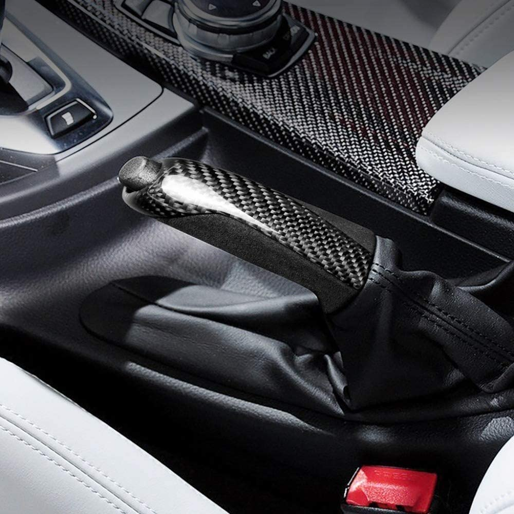 Carbon Fiber Handbrake Cover Grip E-Brake Handle for BMW Accessories F10 F20 F30 F34 E36 E39 E46 E60 E90 E92