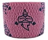 Liftgenie Tearable Elastic Adhesive Weightlifting Tape | Protects Thumbs When Lifting Weights & Prevents Knurling | Stretchy Adhesive Athletic Hook Grip Tape for Weightlifters (Pink, Box of 24)