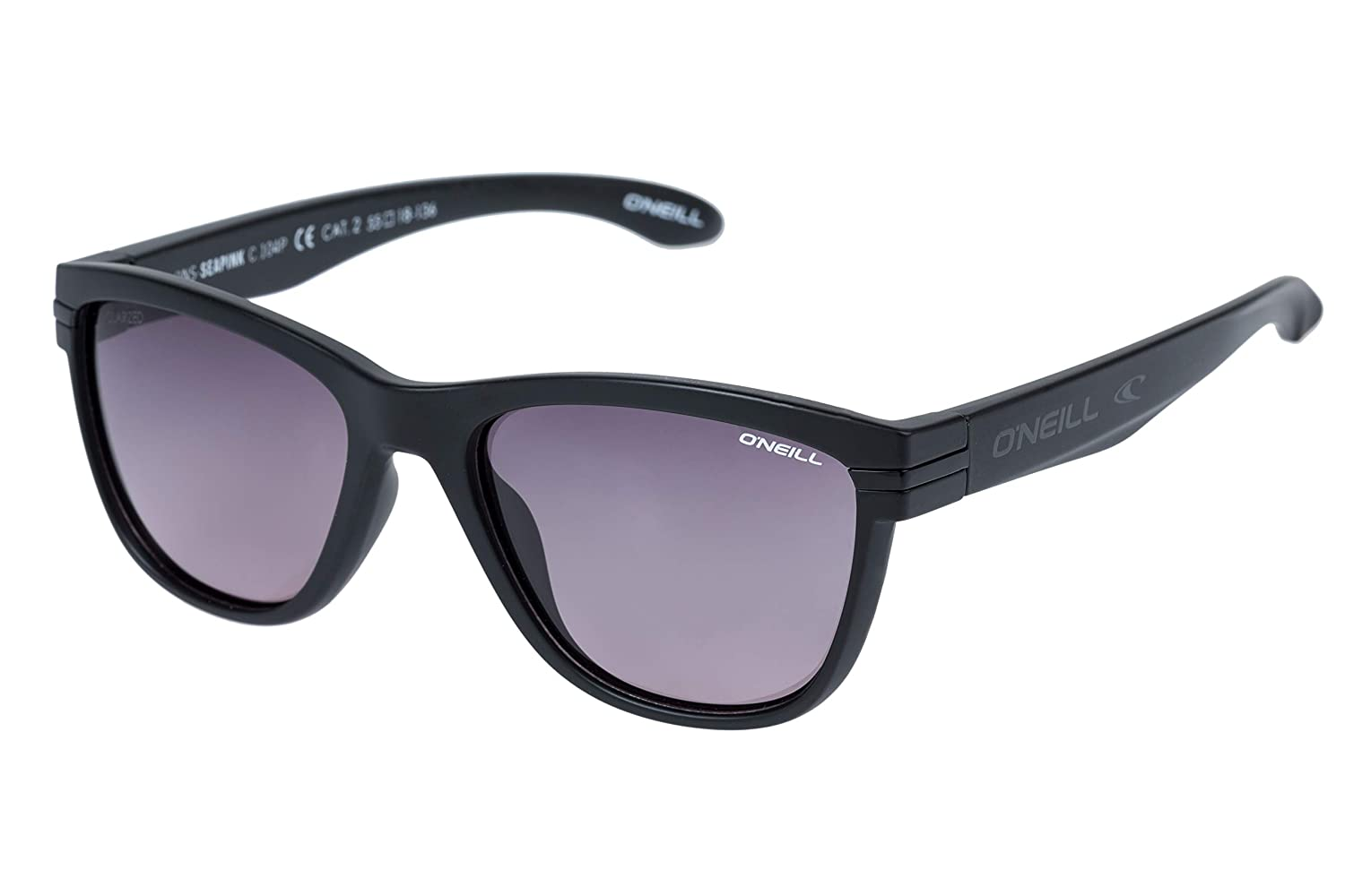 Matte Black O'Neill Seapink Polarized Cateye Sunglasses, Matte Black, 55 mm