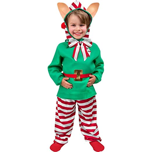 sc 1 st  Amazon.com & Amazon.com: Childu0027s Toddler Christmas Elf Costume (2-4T): Baby
