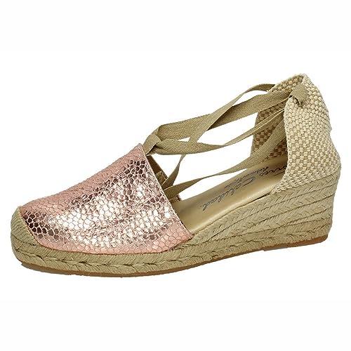 TORRES 5000 Valenciana DE Piel Mujer Alpargatas Cobre 38: Amazon.es: Zapatos y complementos