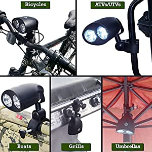 Massun Barbecue Grill Light with 10 Super Bright LED Lights Powerful LED BBQ Light 360° Rotation Battery for Any Gas/Charcoal/Electric Grill