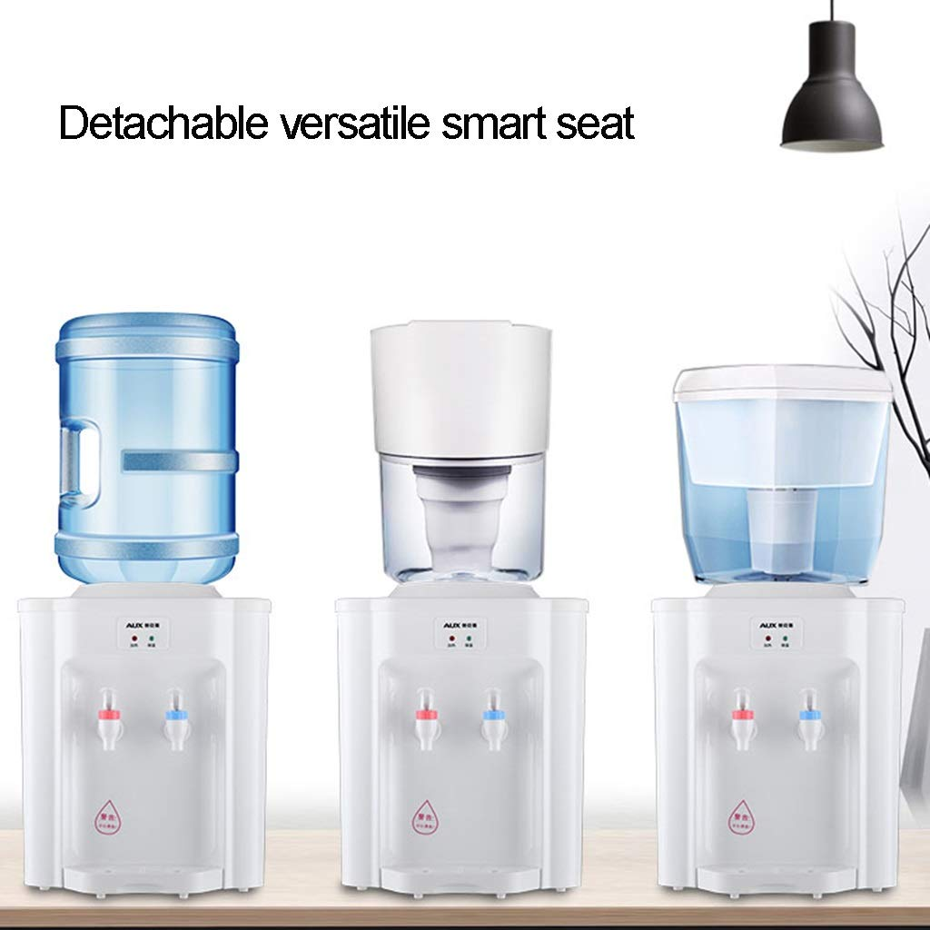 LJF Home Desktop Top Loading Water Cooler Water Dispenser with tap Countertop Hot and Cold Water Cooler Ideal for Home Office Use Size : Hot and Cold