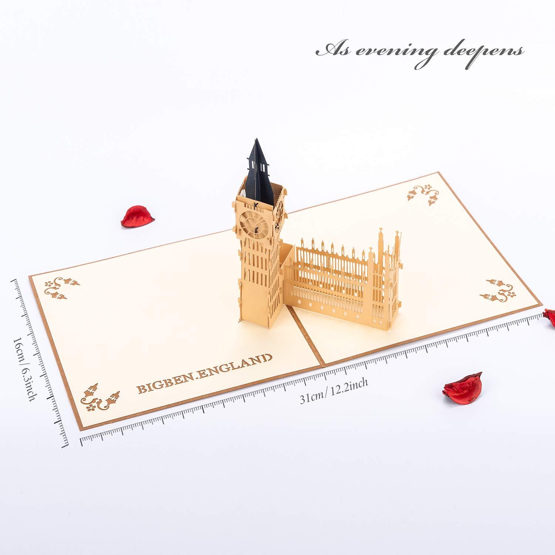 Pop up 3D Biglietto di Auguri HOMEWINS Fatto a Mano Regalo di Congratulazioni Carta Buona Fortuna Biglietto di Auguri per il Ringraziamento Natale Compleanno Anniversario(Ruota panoramica)