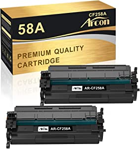 Arcon Compatible Toner Cartridge Replacement for HP 58A CF258A 58X CF258X M404n M404dn M428fdw use for HP Laserjet Pro M404n M404dn M404dw MFP M428fdw M428fdn M428dw Toner 58A CF258A (2 Pack)