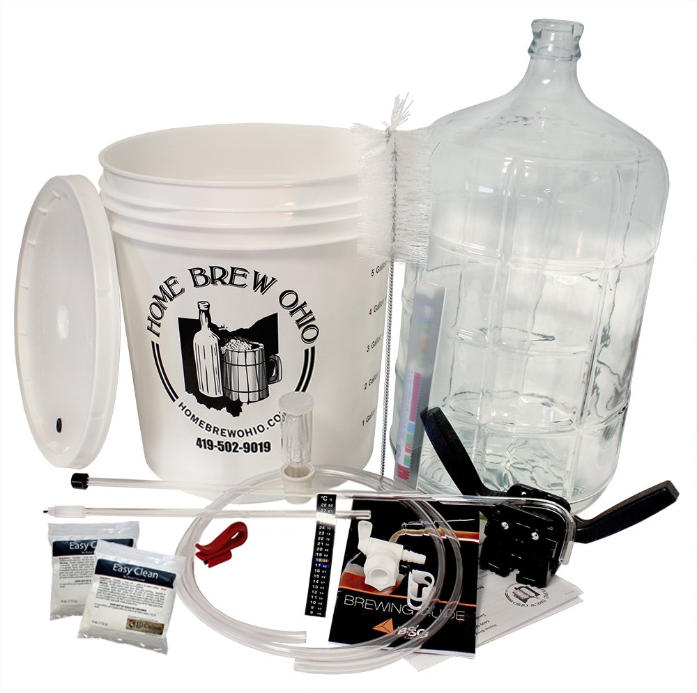 Gold Complete Beer Equipment Kit (K6) with 6 Gallon Glass Carboy, Garden, Lawn, Maintenance by Garden-Outdoor (Image #1)