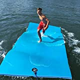 3-Ply Foam Lake Swim Mat | FloatDaddy Super Island | 6 x 16 | Cyan/Blue