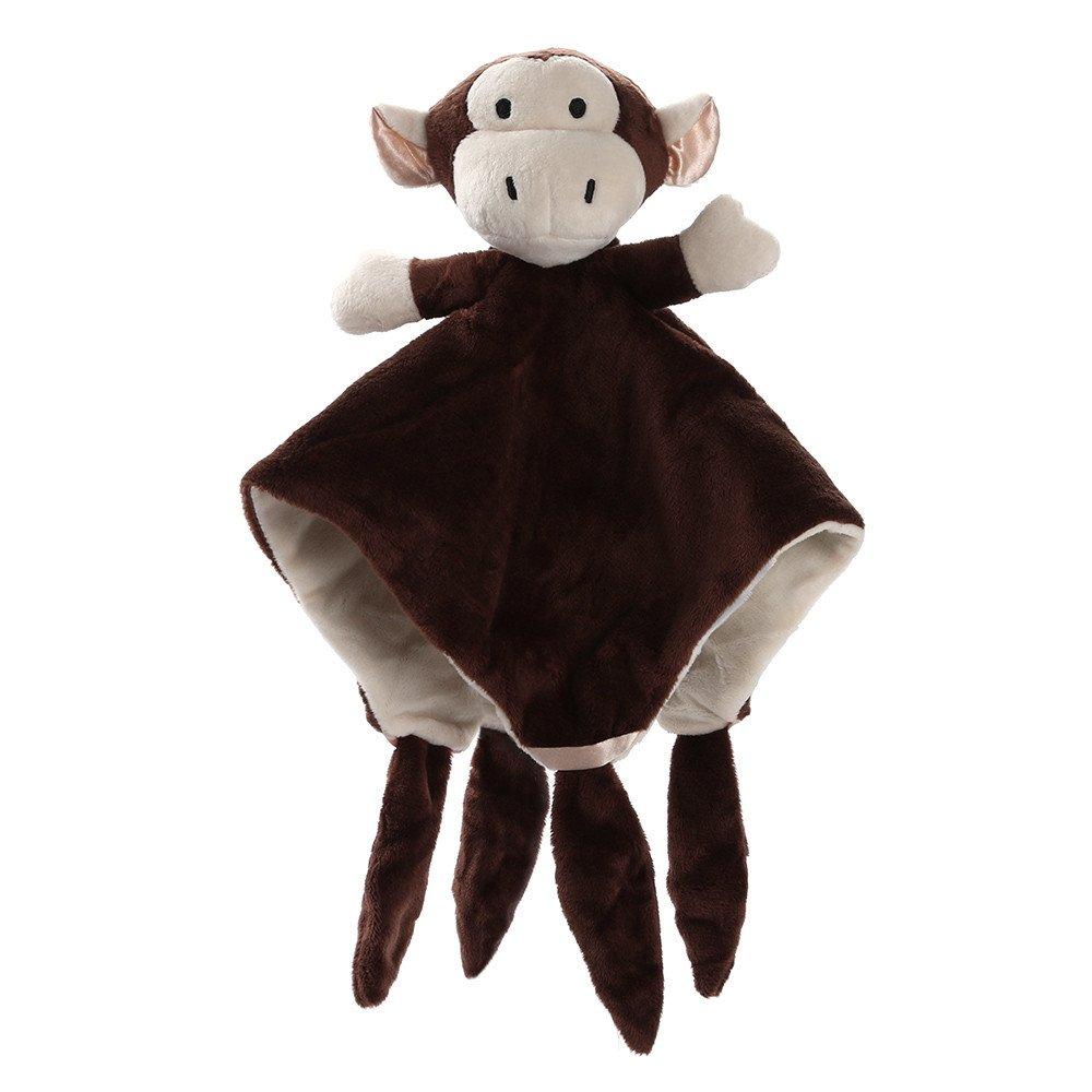TianranRT Petit Animal Confort Serviette Nouveau-N/é Doux B/éb/é Ours En Peluche Marionnette Jouet Cadeau Cuddling B/éb/é Couette Couverture BW Marron