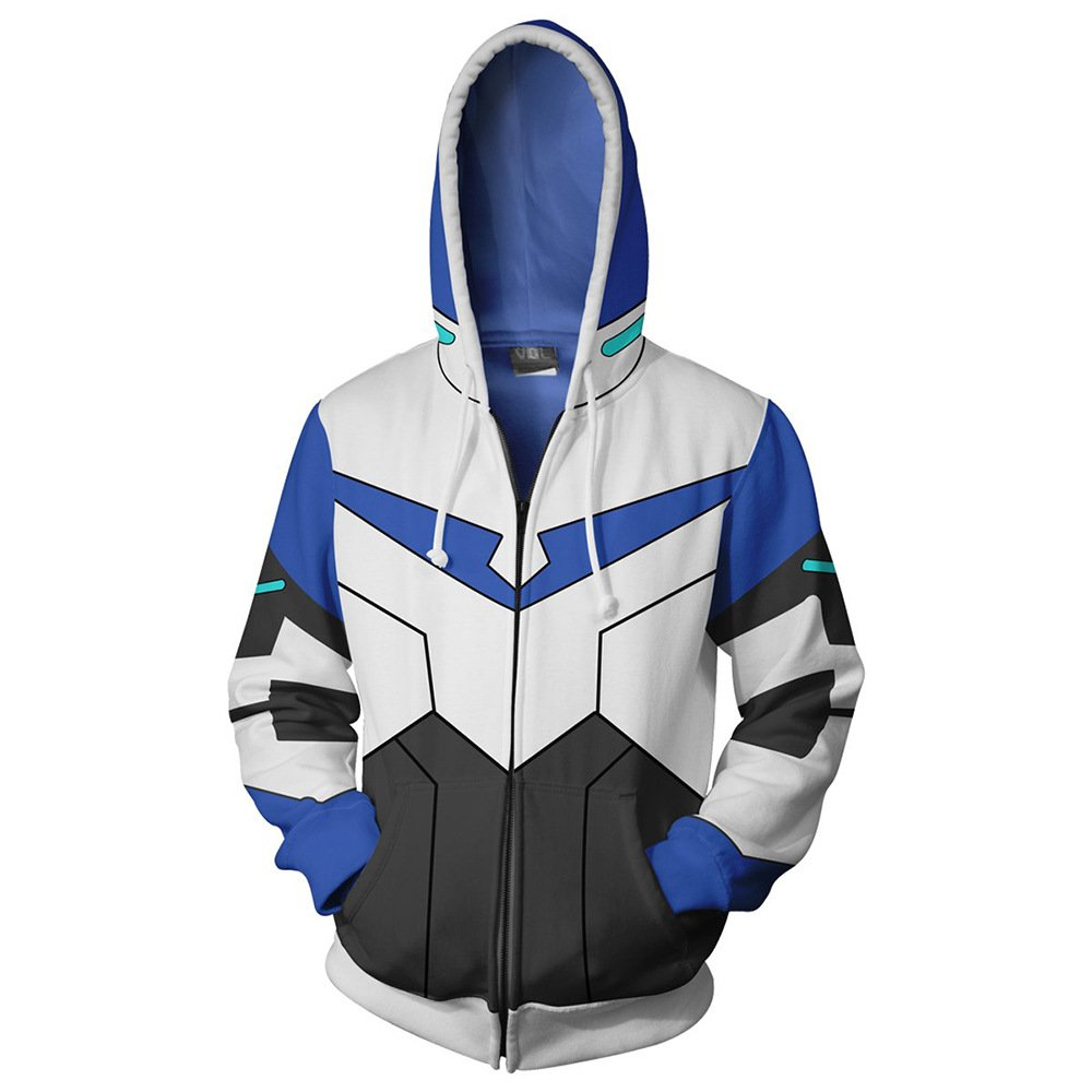 VOSTE Anime Cartoon Cosplay Lance Hoodie 3D Printed Keith Zipper Jacket (Medium, Color 2) by VOSTE