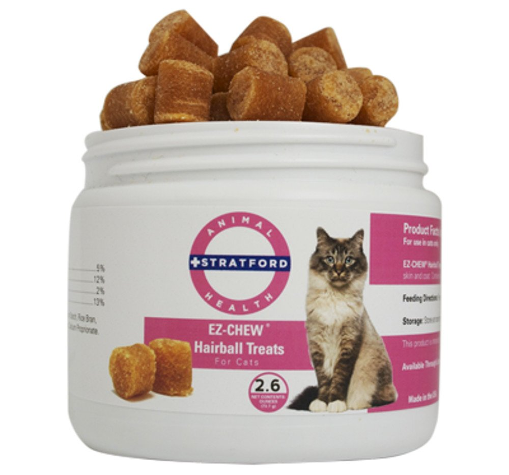 Stratford Pharmaceuticals EZCHEW Hairball Treats for Cats (2.6 oz)