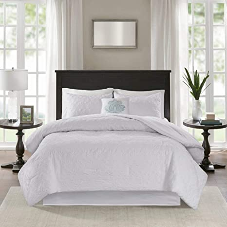 Amazon.com: 5pc California King Cream White Comforter Set ...