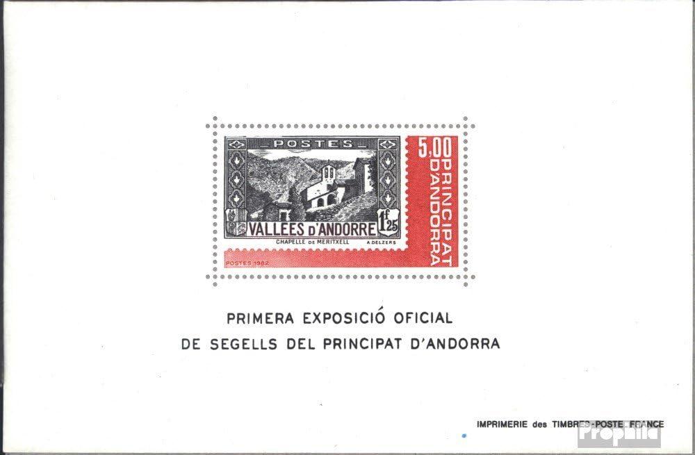 Prophila Collection Andorra - francés Correos Michel.-No..: Bloque 1 (Completa.edición.) 1982 exposicion de Sellos (Sellos para los coleccionistas): Amazon.es: Juguetes y juegos