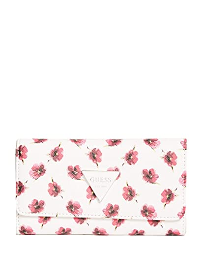 bf23148f783f GUESS Factory Women's Abree Printed Slim Wallet