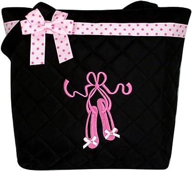 Child Girls Kids Light Pink Tote Dance Bag Dance Ballet Shoe Embroidered Tote