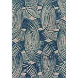 "Loloi Rugs NEWPNP-01BBTE2239 Newport Collection Area Rug, Blue/Teal, 2' 2"" x 3' 9"""