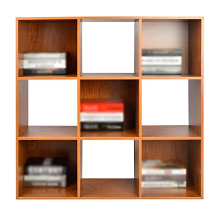 bookcase bookshelf wood cherry wood color jiugongge amazon co uk rh amazon co uk  cherry wood shelves individual