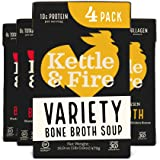 Bone Broth Variety Pack, Beef and Chicken by Kettle and Fire, Keto Diet, Paleo Friendly, Whole 30 Approved, Gluten Free…