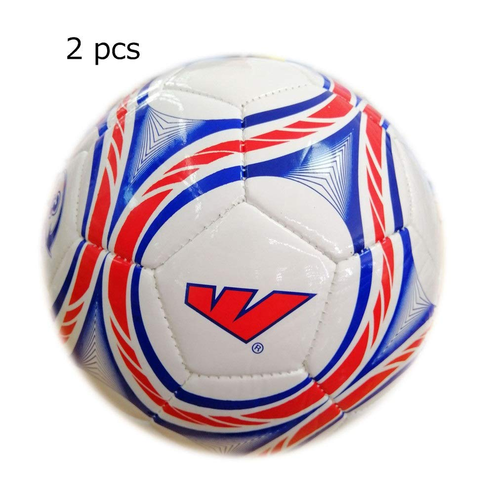 Children's football For Kindergarten Toddlers Kids Aged 1-6 Years Old Size 3 2 Pcs Machine Stitching Soccer Toys Indoor And Outdoor Children's Soccer Ball Football Toy Great Gift for Boys and Girls by Liuxina