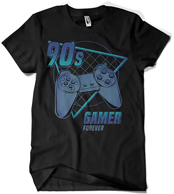 4403-Camiseta Premium, 90s gamer (play) (Typhoonic): Amazon.es: Ropa y accesorios