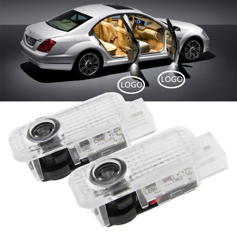 Nslumo2pcs/Paire LED Porte Bienvenue Logo lé ger pour G Olf 5 6 7 MK5 MK6 MK7 CC B6 B7 3d LED Porte de voiture lumiè res Courtois Newsun