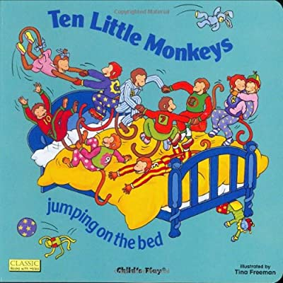 Ten Little Monkeys Jumping On The Bed Classic Books With Holes by Childs Play Intl Ltd