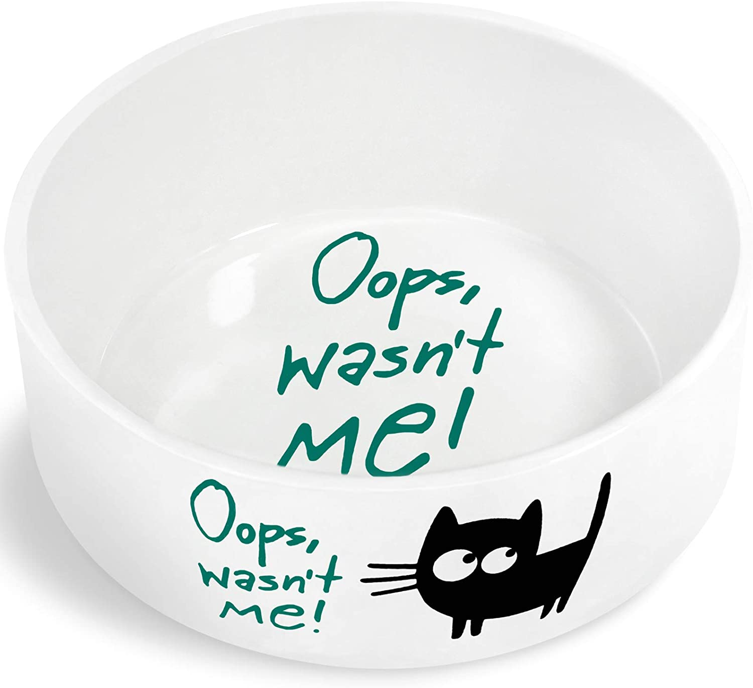 Pawject X Ceramic Cat Bowl for Food or Water, Pet Bowl for Kitten and Cats,Easy to Clean Pet Dish 8 OZ, 1 Pack Green