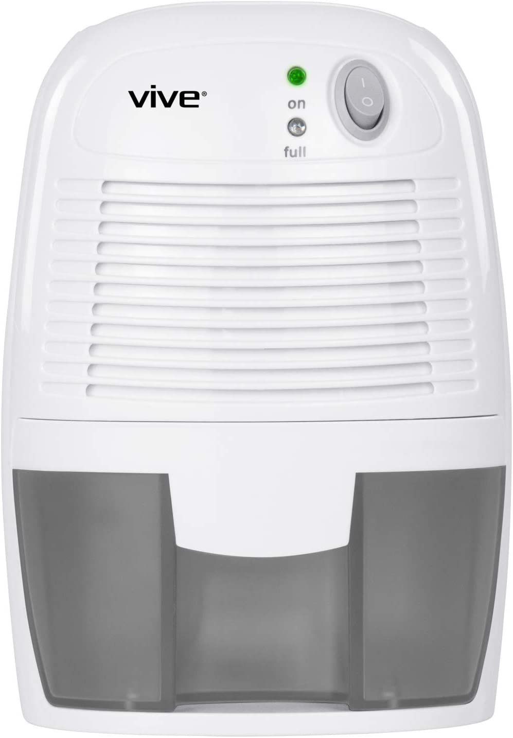 Vive Mini Dehumidifier – Moisture Absorber for Bedroom, RV, Bathroom and Compact Home, Dorm, Baby Room, Office, Kitchen, Sinus Relief – Portable Humidity Control 500 mL with Auto-Shutoff
