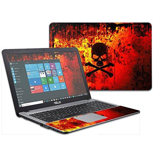 """MightySkins Skin Compatible with Asus VivoBook X540SA X540LA 15.6"""" wrap Cover Sticker Skins Bio Skull -  ASVIVO15-Bio Skull"""