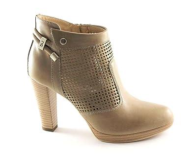 512b813c4b0bc BLACK JARDINS 17005 sable bottes chaussures femme beige cheville talon zip  40