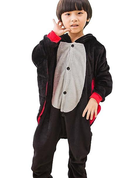 MissFox Kigurumi Pijamas Unisexo Niños Traje Disfraz Niños Animal Pyjamas Uno 85