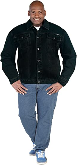 MENS NEW BRANDED DUKE LONDON DENIM TRUCKER JACKET KING SIZE CASUAL IN 2 COLOURS