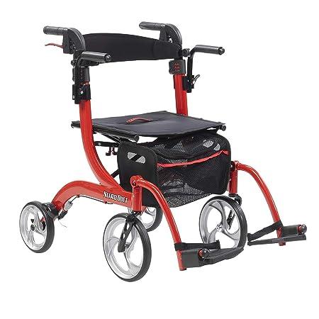 Drive Medical Nitro Duet - Silla de ruedas y andador con ruedas ...