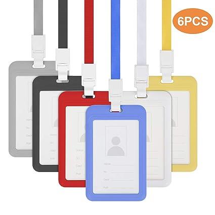 6pcs porta tarjeta identificativas para acreditación de funda de ...