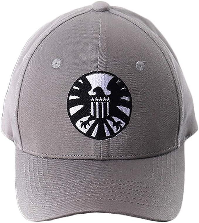 yacn Capitán Marvel Sombrero Gorra Gris Escudo Bordado Carol Susan ...