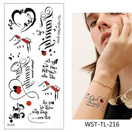 adgkitb 4pcs Tatuaje Pegatina Flores Impermeable WST-TL-216 9x19cm ...