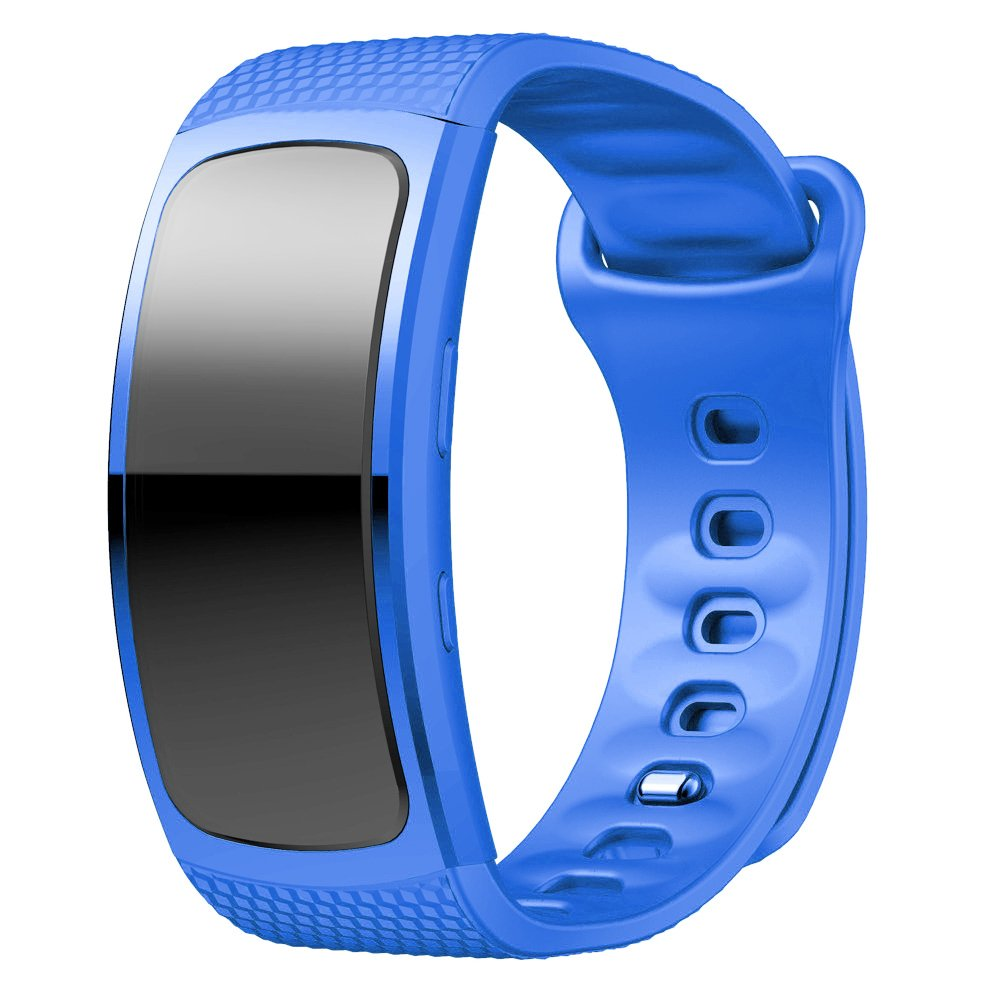 Samsung Gear Fit2/Gear Fit2 Pro Watch Band, Soft Silicone Replacement Sport Band Strap for Samsung Gear Fit 2 SM-R360/Fit 2 Pro SM- R365 Smart ...