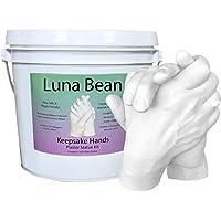 Luna Bean Keepsake Hands Casting Kit | DIY Plaster Statue Molding Kit | Hand Holding Craft for Couples, Adult & Child…