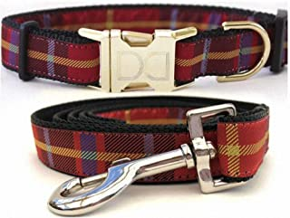 "product image for Diva-Dog 'Vixen' Custom Medium & Large Dog 1"" Wide Dog Collar with Plain or Engraved Buckle, Matching Leash Available - M/L, XL"
