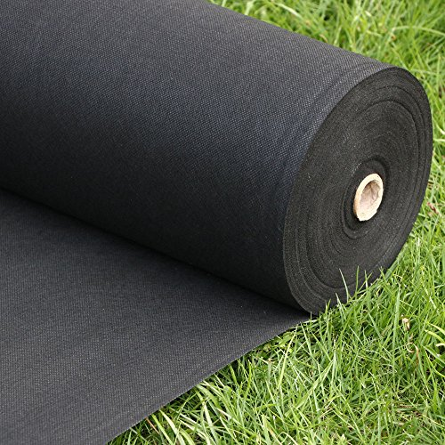 Landscape Fabric - Weed fabric - Weed Barrier Landscape Fabric - Weed Control Fabric - Garden Ground Cover - Erosion Control Mulch Mat - 3 Ft X 300 Ft Black - Ground Cover Landscaping