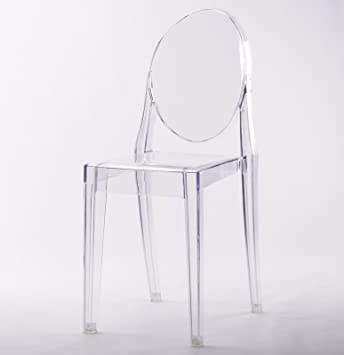 CLEAR GHOST DINING CHAIR TRANSPARENT CONTEMPORARY MODERN STYLE Starck Style  Victoria Inspired   Price Per 1