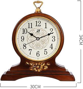 MTG Reloj de mesa redondo vintage, mudo, sin marcar Reloj de mesa ...